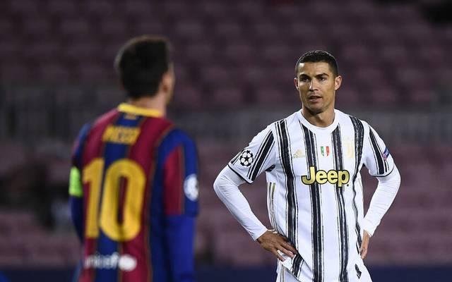 Cristiano Ronaldo und Lionel Messi trafen sich zuletzt in der Champions League