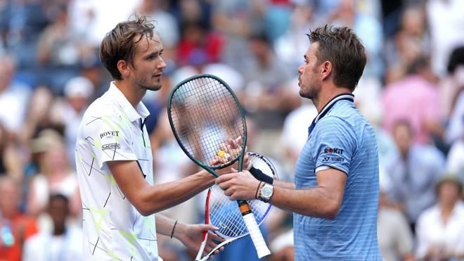 Daniil Madvedev (l.) steht als jüngster Spieler seit Novak Djokovic vor neun Jahren im US-Open-Halbfinale