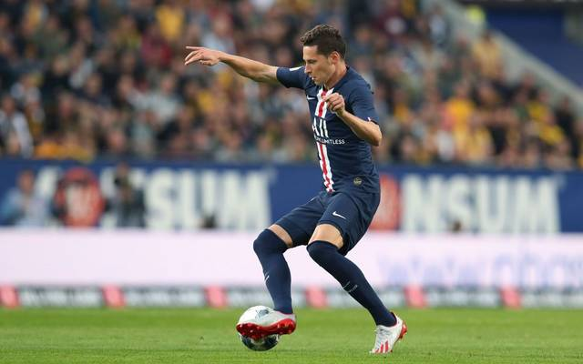 Paris Saint-Germain's German forward Julian Draxler runs with the ball during the pre-season friendly football match Dynamo Dresden v Paris Saint-Germain (PSG) at the Rudolf Harbig stadium in Dresden, eastern Germany, on July 16, 2019. (Photo by Ronny Hartmann / AFP)        (Photo credit should read RONNY HARTMANN/AFP via Getty Images)
