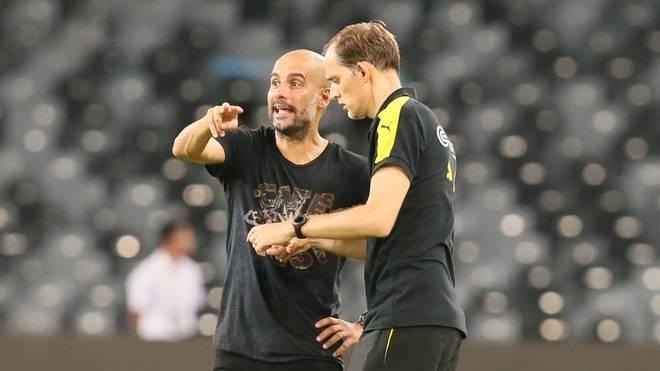 Pep Guardiola (L) und Thomas Tuchel verbindet ein freundschaftliches Verhältnis