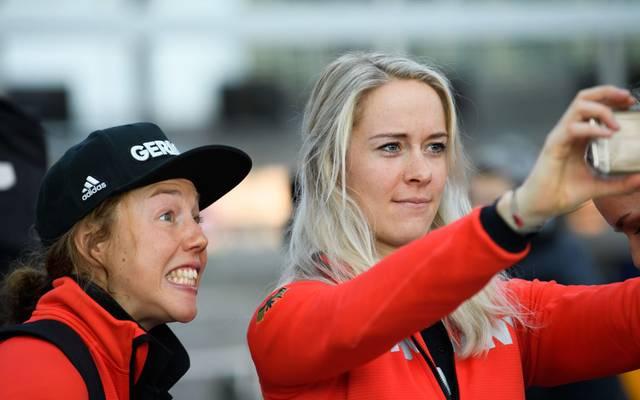 Laura Dahlmeier (l.) ist beim Sporthilfe Club der Besten dabei