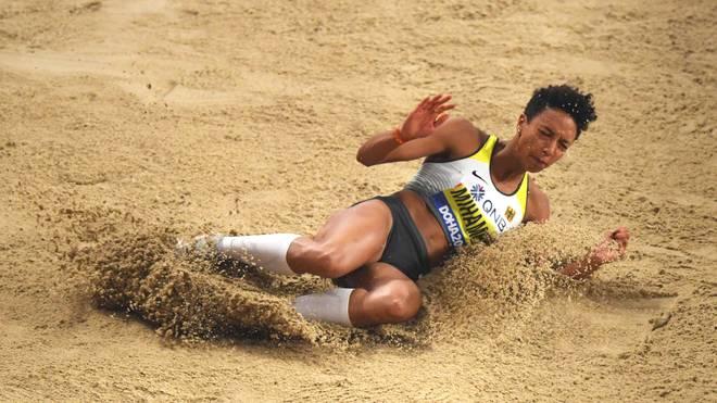 Malaika Mihambo setzte in der Qualifikation den weitesten Satz