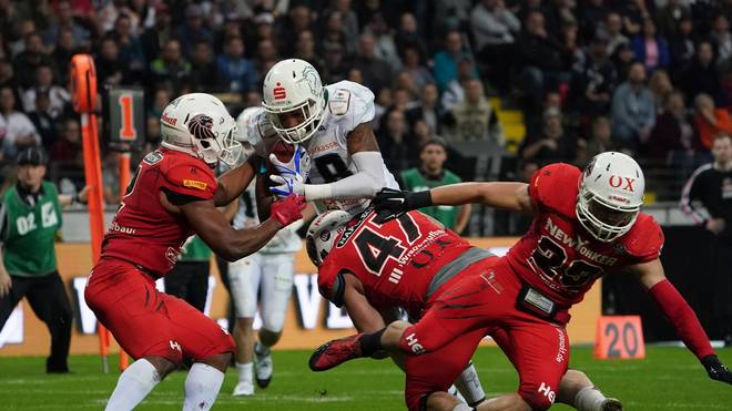 Die Schwäbisch Hall Unicorns verloren im German Bowl 2019 gegen die Braunschweig NewYorker Lions