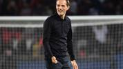 Paris Saint-Germain's German head coach  Thomas Tuchel reacts at the end of the French L1 football match between Paris Saint-Germain (PSG) and Nimes (NO) at the Parc des Princes stadium in Paris on August 11, 2019. (Photo by FRANCK FIFE / AFP)        (Photo credit should read FRANCK FIFE/AFP/Getty Images)