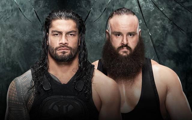 Roman Reigns (l.) trifft bei WWE Payback 2017 auf Braun Strowman