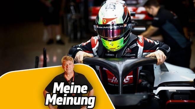 Mick Schumacher absolvierte in Abu Dhabi sein erstes F1-Training