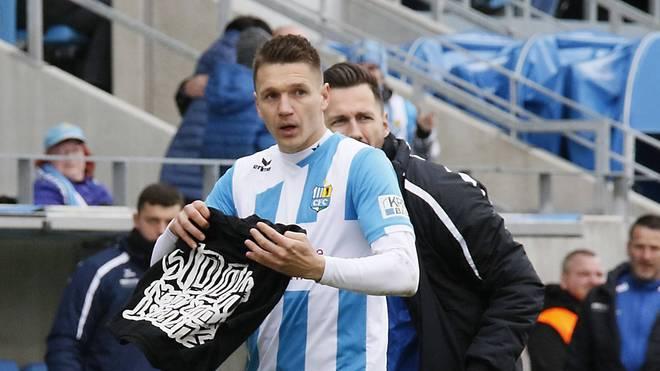 Neonazi-Eklat: Daniel Frahn vom Chemnitzer FC stand nach seinem Jubel in der Kritik