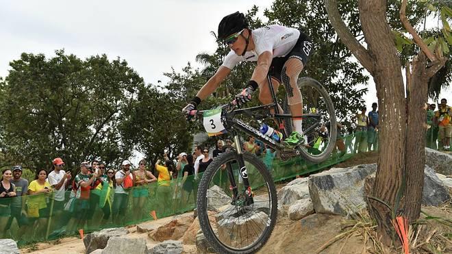 Sabine Spitz wurde Olympiasiegerin im Mountainbiken