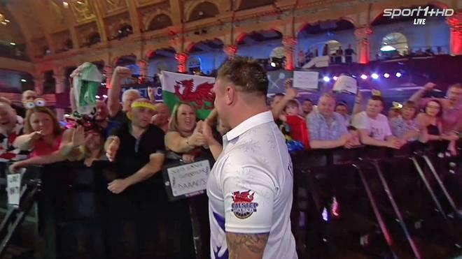 Gerwyn Price gelang in Blackpool der Paukenschlag gegen Kim Huybrechts