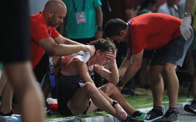 Die Athleten leiden in Doha unter der Hitze