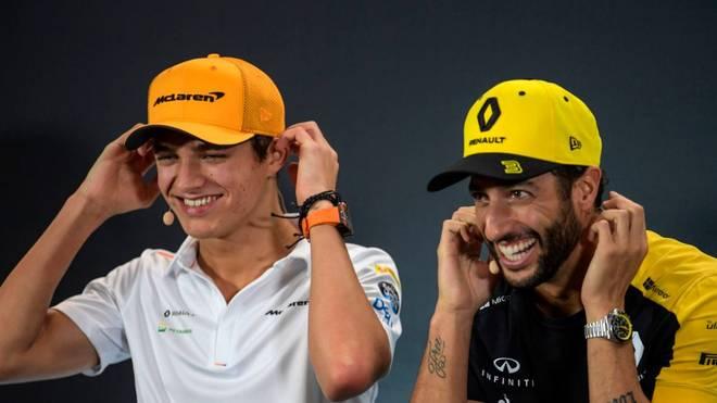 Lando Norris (l.) startet seit 2019 für McLaren in der Formel 1