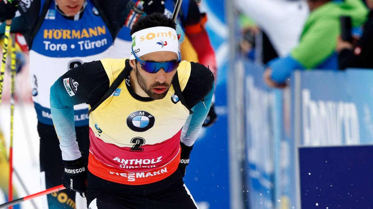 ANTHOLZ ANTERSELVA, ITALY - FEBRUARY 23: Martin Fourcade of France in action during the IBU Biathlon World Championships Men's 15 km Mass Start Competition on February 23, 2020 in Antholz Anterselva, Italy. (Photo by Christophe Pallot/Agence Zoom/Getty Images)