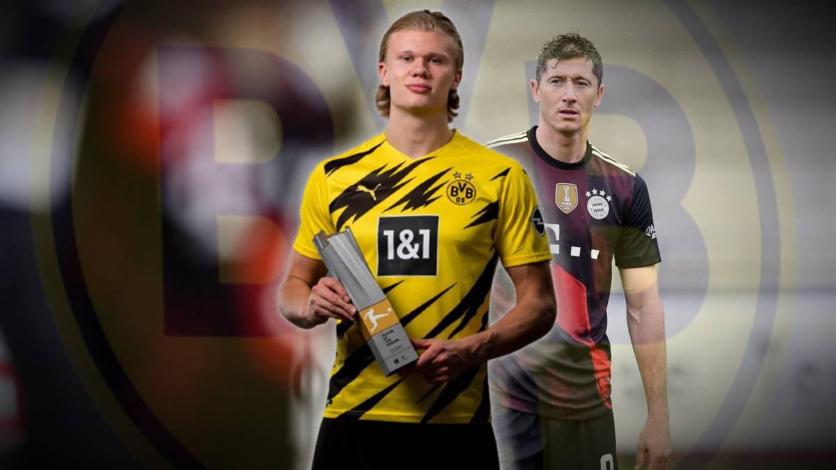 Erling Haaland ist zum Bundesliga-Spieler der Saison 2020/21 ausgezeichet worden. Hätte Robert Lewandowski den Titel nicht noch mehr verdient?