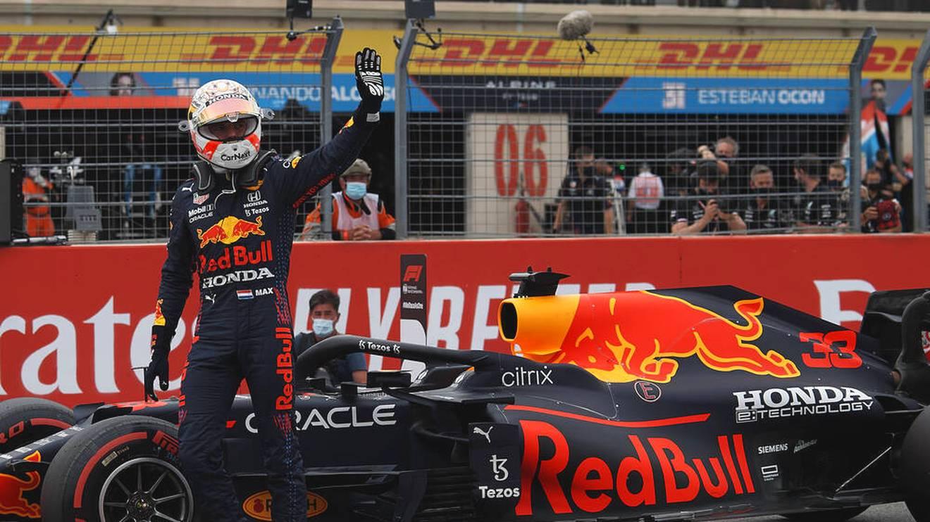 Max Verstappen im Red Bull holte sich die Pole Position für den Frankreich-GP