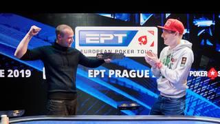 PokerStars-Pro Felix Schneiders (r.) gratulierte Heiko Warnke zum Sieg