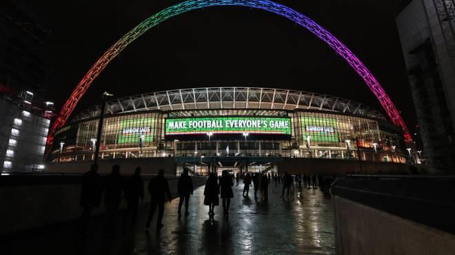 as Wembleystadion ist beim Frauen-Länderspiel England - Deutschland ausverkauft