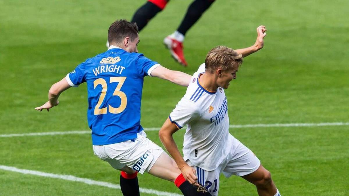 Martin Odegaard in einem Testspiel für Real Madrid gegen die Glasgow Rangers