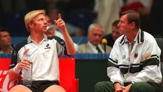 TENNIS: DAVIS CUP 1997 in ESSEN, 19.09.97, Niki Pilic, Boris Becker