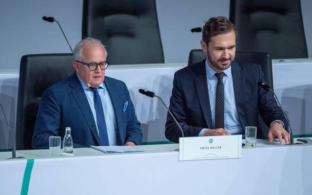 Im Januar beschlossen Fritz Keller (l.) und Friedrich Curtius einen Burgfrieden