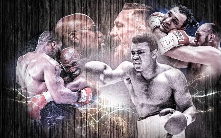 """Der Mega-Fight zwischen UFC-Superstar Conor McGregor und Box-Legende Floyd Mayweather galt wie viele zuvor als der """"Kampf des Jahrhunderts"""" - aber kann er mit den größten Box-Kämpfen aller Zeiten mithalten?"""