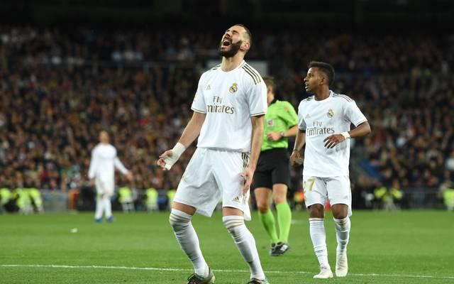 Real Madrids Karim Benzema (l.) verzweifelte gegen Athletic Bilbao