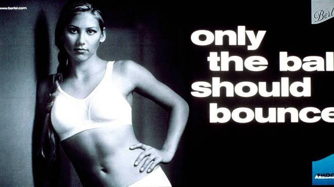 So wurde eine Werbekampagne mit Anna Kournikova beworben