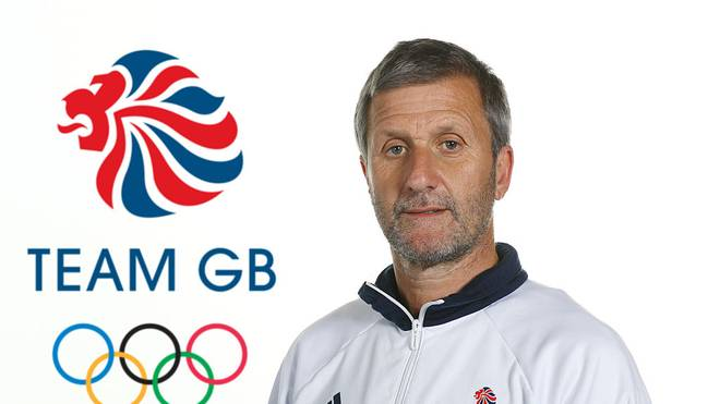 BIRMINGHAM, ENGLAND - JULY 13: (EDITORS NOTE: This image has been digitally altered - LOGO ADDED TO BACKGROUND)  A portrait of Richard Freeman, a member of the Great Britain Olympic Cycling team, during the Team GB Kitting Out ahead of Rio 2016 Olympic Games on July 13, 2016 in Birmingham, England.  (Photo by Bryn Lennon/Getty Images)