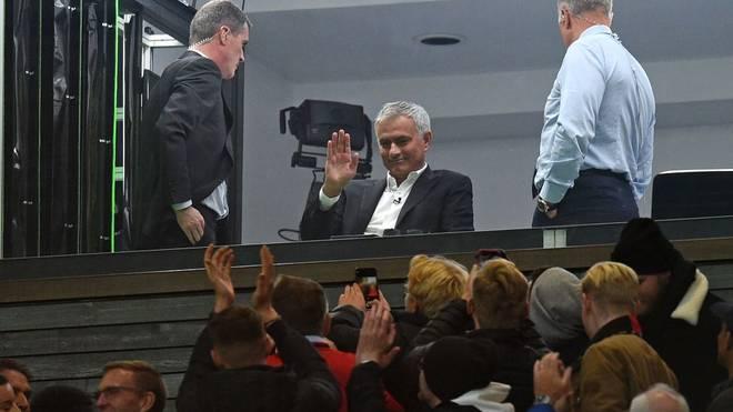José Mourinho verfolgte das Duell zwischen Manchester United und dem FC Liverpool als TV-Experte