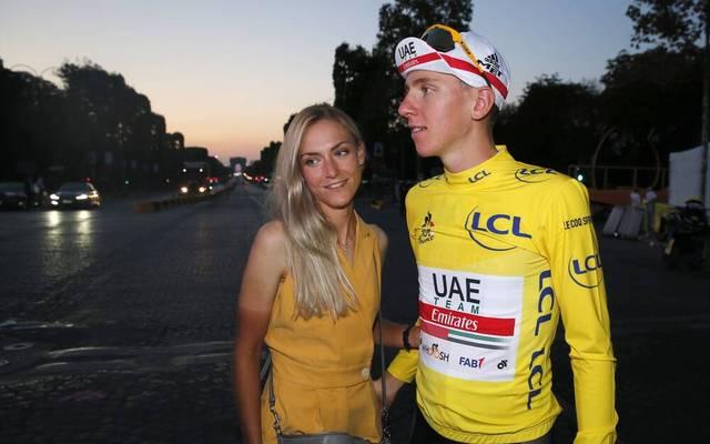 Tadej Pogacar mit Freundin Urska Zigart - selbst erfolgreiche Radsportlerin