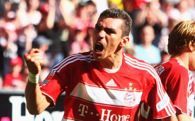 MUNICH, GERMANY - APRIL 11:  Lucio of Muenchen celebrates scoring the 3rd goal during the Bundesliga match between FC Bayern Muenchen and Eintracht Frankfurt at the Allianz Arena on April 11, 2009 in Munich, Germany.  (Photo by Alexander Hassenstein/Bongarts/Getty Images)
