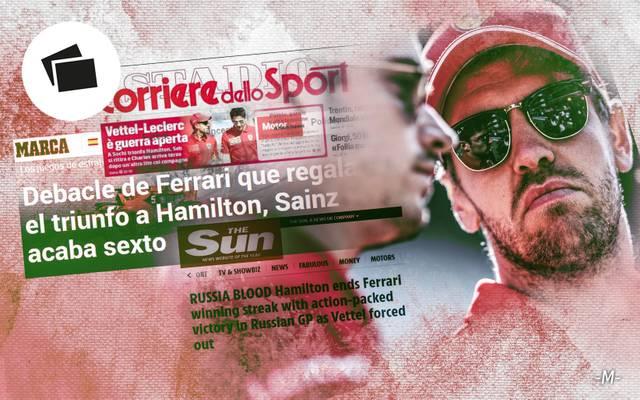 Sebastian Vettel und Charles Leclerc sorgten in Sotschi für den nächsten Ferrari-Eklat