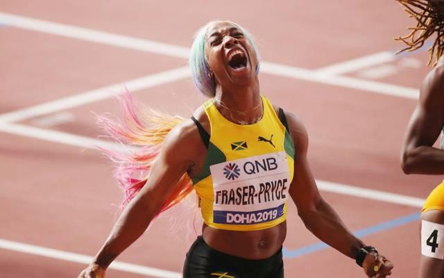 Shelly-Ann Fraser-Pryce sprintet zu Gold über 100 Meter