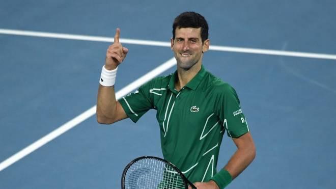 Novak Djokovic steht in seinem achten Finale bei den Australian Open