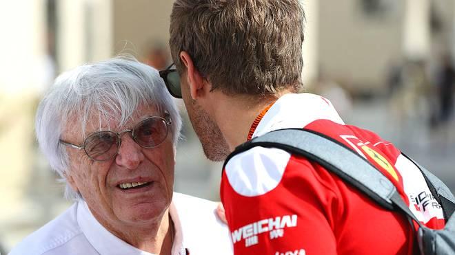 Bernie Ecclestone (l.) fordert eine Änderung bei Ferrari