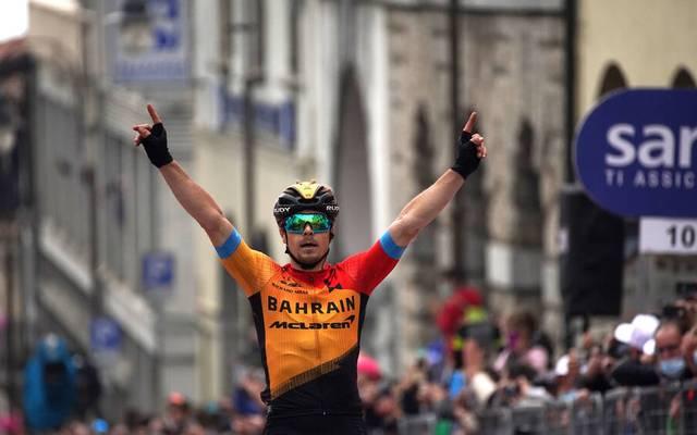 Der Slowne Jan Tratnik ist Gewinner der 16. Etappe beim Giro d'Italia
