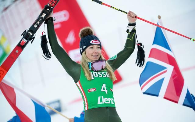 Mikaela Shiffrin sicherte sich in Lienz auch den Sieg im Slalom