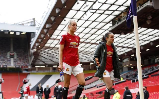 Ein ungewohntes Bild: Das erste Spiel des Frauenteams von Manchester United im Old Trafford