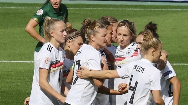 Die DFB-Frauen gaben in der EM-Quali keinen Punkt ab