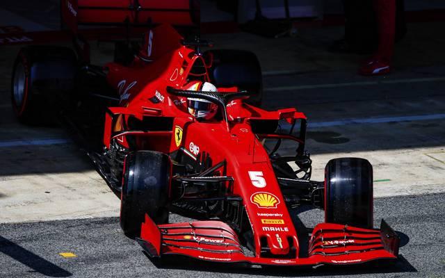 Sebastian Vettel startet in Barcelona von Rang elf