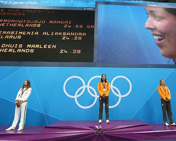 Bei manchen Sportlern muss man in London länger auf die Anzeigetafel schauen, um den Namen entziffern zu können