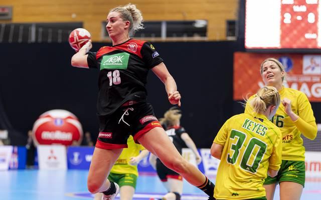 Mia Zschocke und die deutschen Handball-Frauen sind gegen Frankreich gefordert