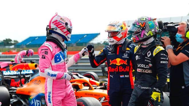 Max Verstappen (m.) macht sich für Nico Hülkenberg (l.) bei Red Bull stark