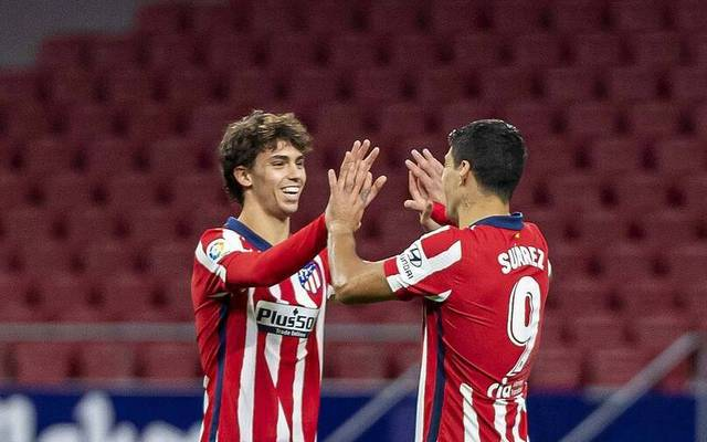 Luis Suárez (r.) und Joao Félix bilden bei Atlético das gefährlichste Sturmduo der Liga
