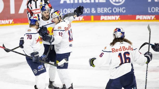 Der EHC Red Bull München gewinnt gegen die Krefeld Pinguine