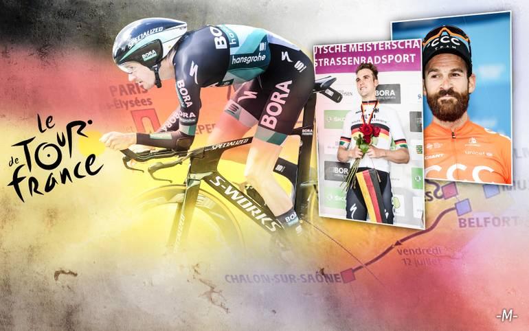 Elf deutsche Radprofis werden am Samstag beim Grand Depart im belgischen Brüssel die 106. Tour de France in Angriff nehmen. Das deutsche Team Bora-hansgrohe stellt mit drei deutschen Fahrern das größte Kontingent, für Sunweb und das Team Katusha-Alpecin starten jeweils zwei deutsche Profis