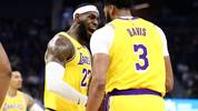 LeBron James (l.) und Anthony Davis glänzten für die Los Angeles Lakers