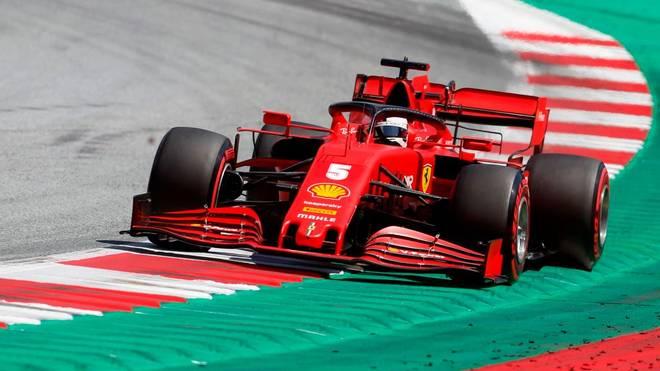 Sebastian Vettel kann im Ferrari nicht mit Mercedes mithalten