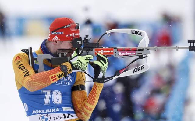 Johannes Kühn schoss im Sprint von Östersund acht Fehler
