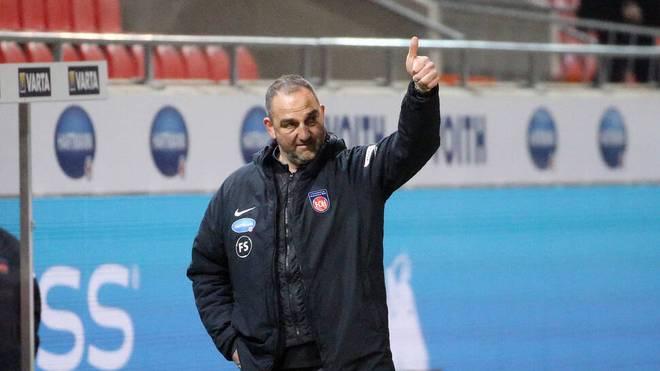 Frank Schmidt geht guten Mutes in das Spiel gegen Bochum