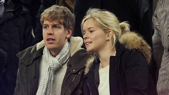 Sebastian Vettel und seine damalige Freundin Hanna 2012 bei einem Stadionbesuch in Barcelona